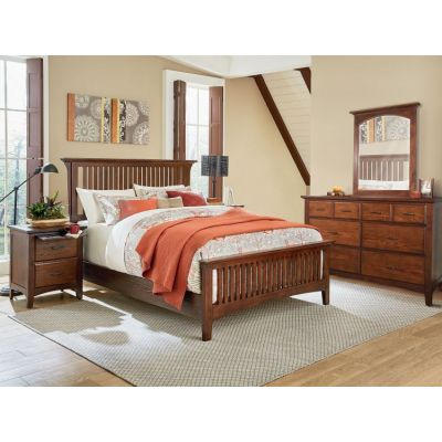 Modern Mission Queen Bedroom Set in Vintage Oak - BP-4201-213K