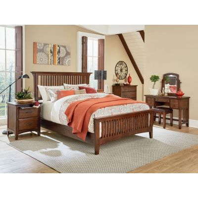 Modern Mission Queen Bedroom Set in Vintage Oak - BP-4201-215K