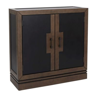 Bergamo Storage Console in Coffee and Tan Finish - BP-BRGCSL-CFTN