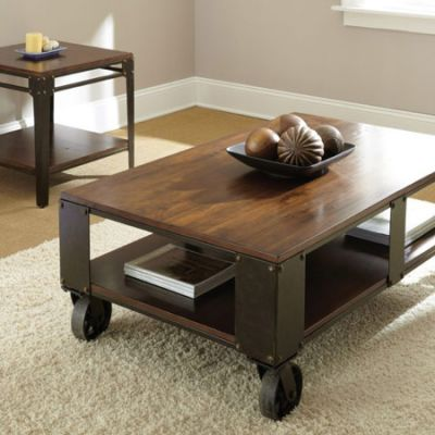 Barrett Distressed Tobacco Square End Table - br200e