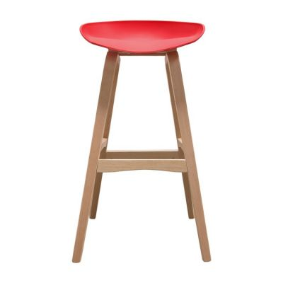 Brentwood Bar Stool w/ Red PP Seat & Molded Bamboo Frame - BRENTWOODSTRE