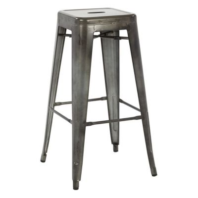 Bristow 30'' Metal Barstool in Galvanized - BRW3030A2-C210-1