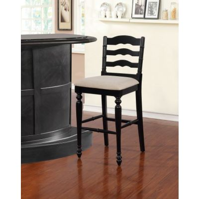 Melva Antique Black Bar Stool - BS003BLK01U