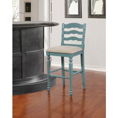 Melva Antique Blue Bar Stool - BS004BLU01U