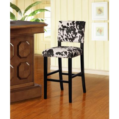 Clayton Black Cow Print Bar Stool - BS041COW01U