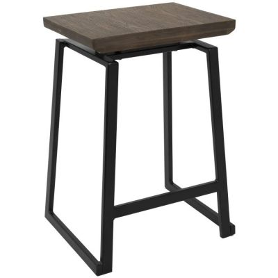 Geo Counter Stool - CS-GEO-BK-BN2