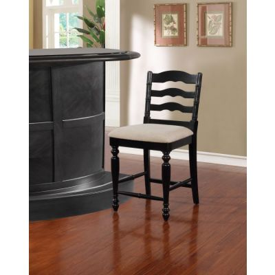Melva Antique Black Counter Stool - CS001BLK01U