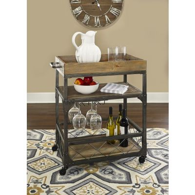 Collin Bar Cart  in Metal Wood - D1054A17