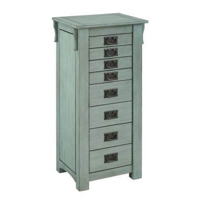Ziva Jewerly Armoire in Teal - D1155J18T