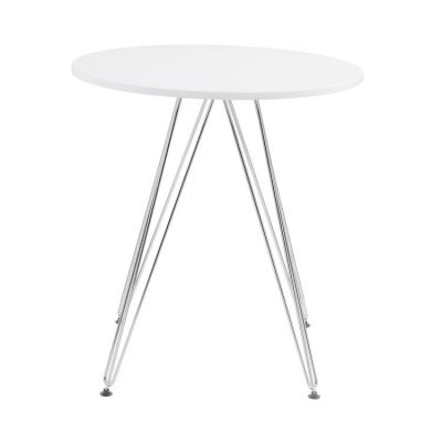 Audrey DINING TABLE-ROUND 27.5'' in White - D119-10-27WHT