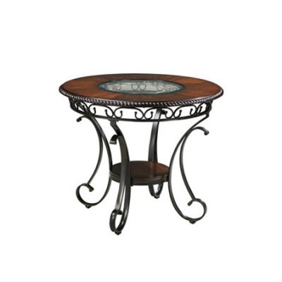 Glambrey Round Dining Room Counter Table - D329-13