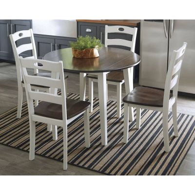 Woodanville 5 Piece DiningSet in White & Brown - 001625_Kit