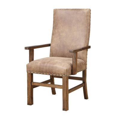 Chambers Creek Arm Chair with Nailhead in Brown - D412-21-2PK-K