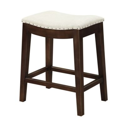 Rancho Barstool 24'' in Linen Top, Brown Legs - D50-27-09