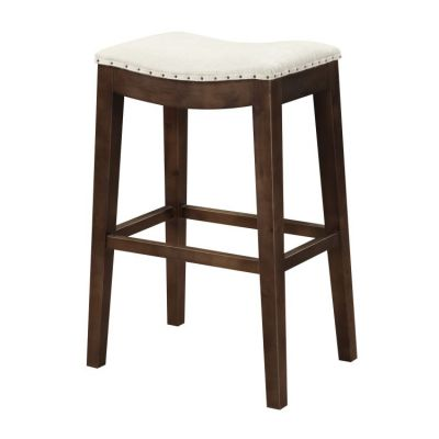 Rancho Barstool 30'' in Linen Top, Brown Legs - D50-30-09