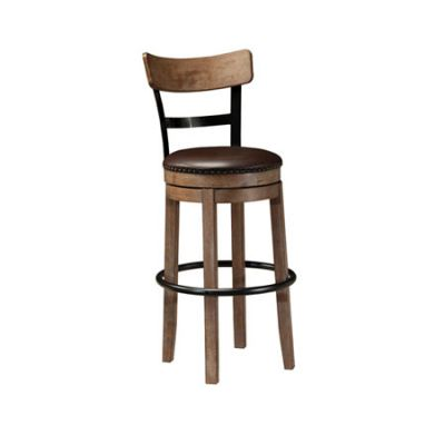 Pinnadel Tall Upholstered Swivel Barstool - D542-130