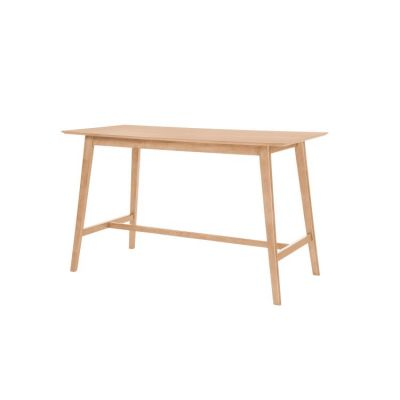 Simplicity Rectangular Gathering Table in White & Natural - D546-14