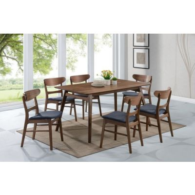 Simplicity 7 Piece Dining Set in Walnut Brown - 001596_Kit