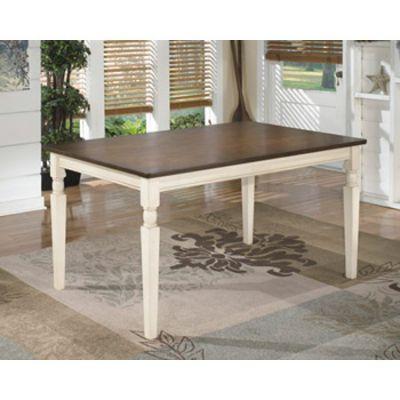 Whitesburg Rectangular Dining Room Table in Cottage White - D583-25
