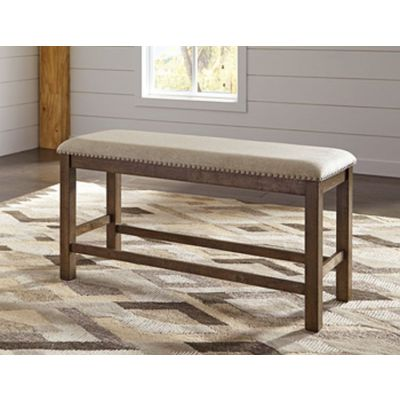 Moriville Double UPH Bench in Beige - D631-09