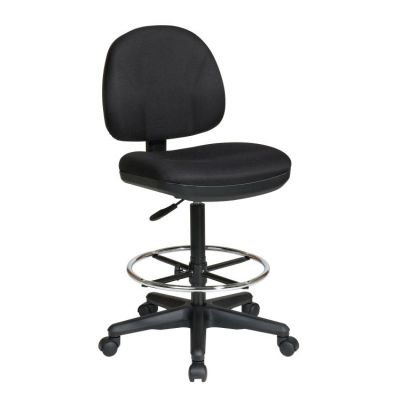 Drafting Chair with Stool Kit in Black - DC630-231