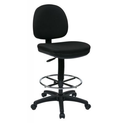 Lumbar Support Drafting Chair in Black - DC640-231