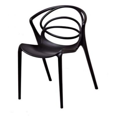 Orion Stackable Accent Chair (Set of 2) in Black - DHF-ORI-CHA-PPX-BLK