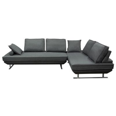 Dolce 2 Piece Lounge Seating Platforms with Backrest in Grey - DOLCELG2PCGR2
