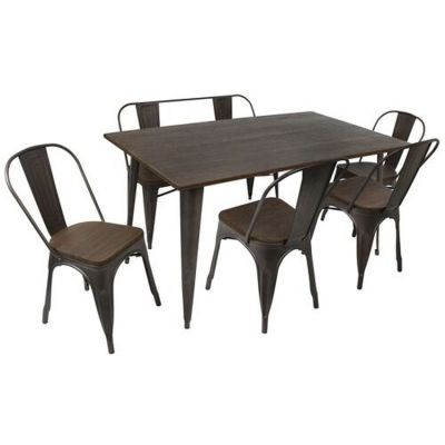Oregon 6 Piece Stoneberry Dining Set - DS-TW-OR6036-E6