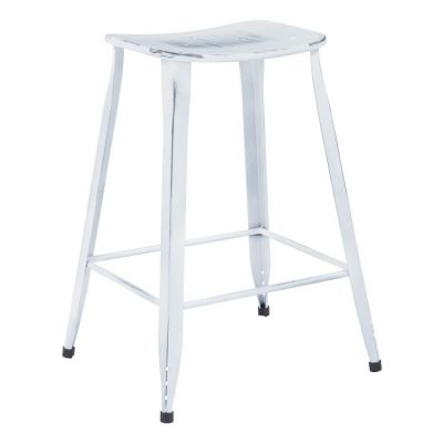 Durham 26'' Counter Stool in White(Set of 2) - DUR26A2-AW