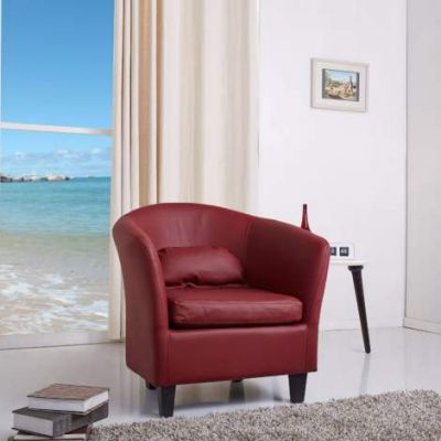 Denton Wine Red Club Chair - ADC-DEN-CHA-PUX-WIN
