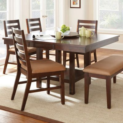 Eden Modern Dining Table with Leaf in Cherry(Table Only) - ED400TC