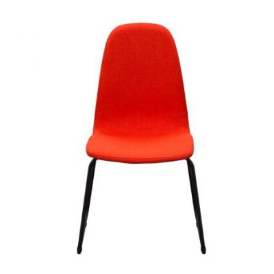 Finn Dining Chairs in Coral Fabric with Metal Leg - FINNDCCO2PK