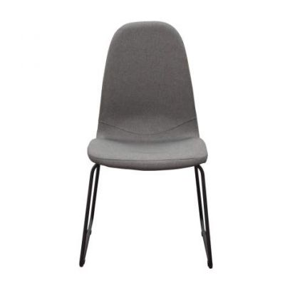 Finn Dining Chairs in Grey Fabric with Metal Leg - FINNDCGR2PK
