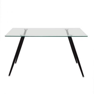 Finn Rectangular Glass Top Dining Table - FINNDT