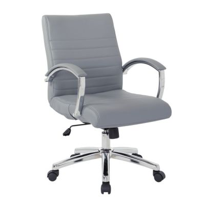 Executive Low Back Chair in Charcoal Faux Leather - FL92011C-U42