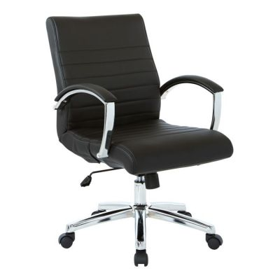 Executive Low Back Chair in Black Faux Leather - FL92011C-U6