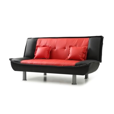 Sofa Bed in Red/Black - VEN060-G136-S