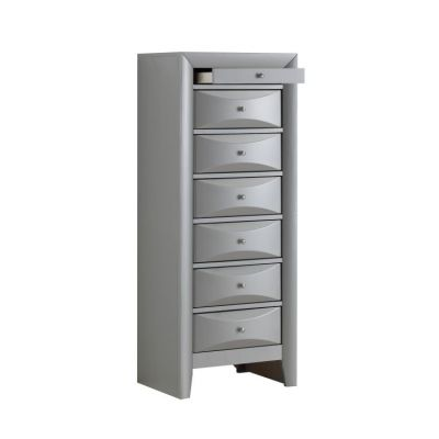7 Drawer Lingerie Chest in Silver - G1503-LC