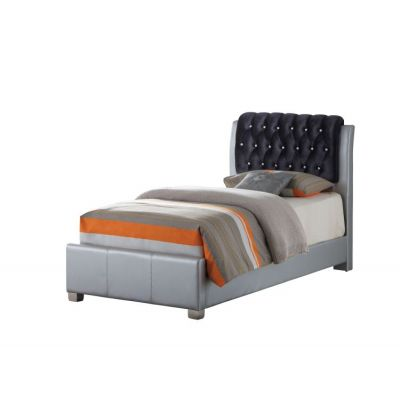 Twin Bed in Silver - G1503C-TB-UP