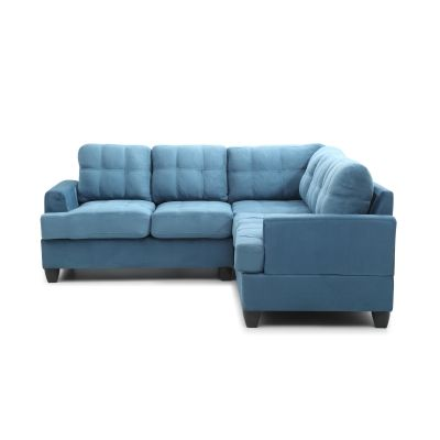 Cavalier Sectional (2 Boxes) in Aqua Suede - VEN060-G518B-SC