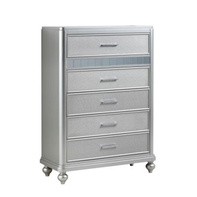 Bling 5 Drawer Chest in Silver - G5700-CH