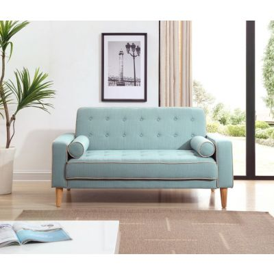 Navi Sleeper Aaron's Loveseat in  Light Blue Fabric - G833A-L