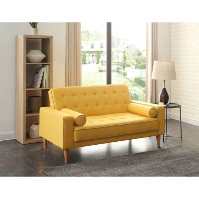 Navi Sleeper Aaron's Loveseat in  Yellow Fabric - G834A-L