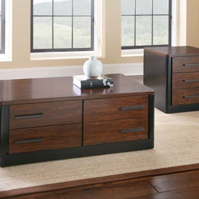 Gale Coffee Table in Ebony and Brown Cherry - GA150C