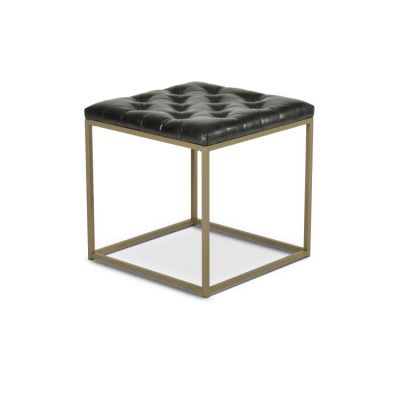 Glenda Upholstered End Table Metallic Charcoal Gray - GL250EB