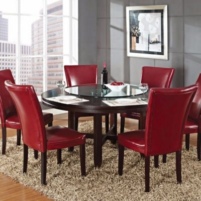 Hartfort Round Dining Table in Dark Oak Finish (Table Only) - HF6262T
