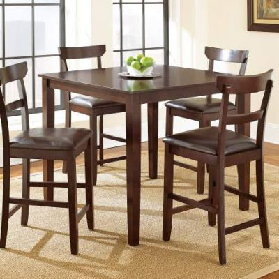 Howard 5 Piece Counter Height Table Set in Merlot Cherry - ho2000