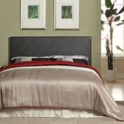 Ameena Leatherette Queen Platform Bed in Gray - IDF-7008GY-Q