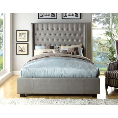 Fenty Leatherette Cal. King Tall Wingback Bed - IDF-7055CK